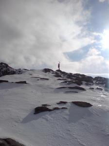 Tindebestiger med trua på å nå toppen @Austanbtntind