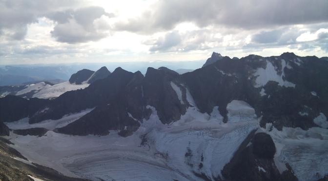 Dyrhaugsryggen med Store Dyrhaugstind 2134 moh som høyest